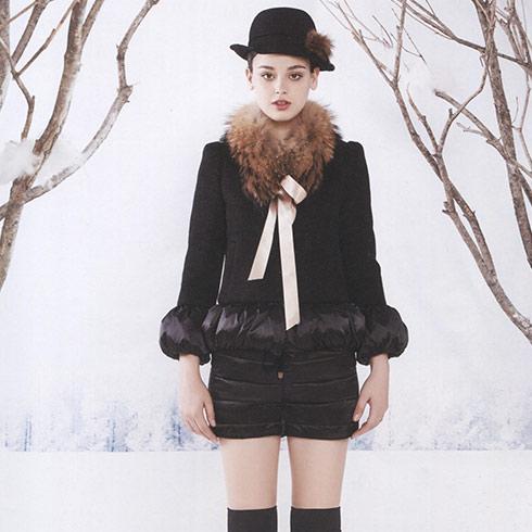 阿莱贝琳黑色冬装