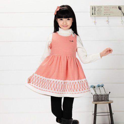 贝蕾尔童装产品-贝蕾尔女童秋冬花边连衣裙