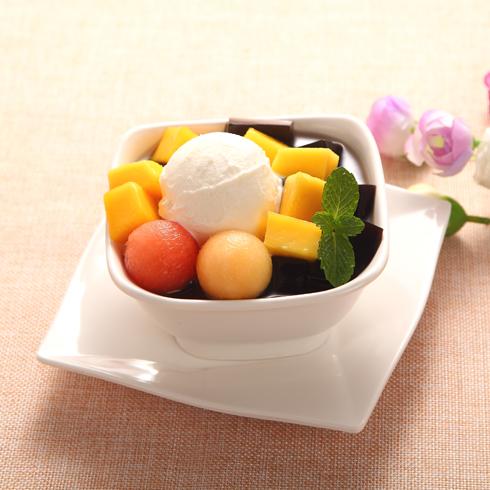甜蜜心语甜品-水果冰淇淋球