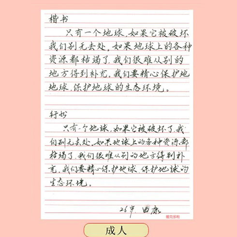 赵汝飞练字-案例