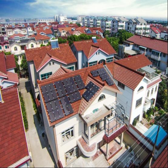 汉能 楼房/平房 光伏并网发电系统经典系列 2kw 太阳能电池板