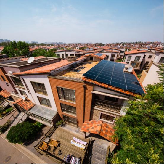 汉能 户用别墅/平房光伏并网发电系统 雅致系列 2kw 太阳能电池板
