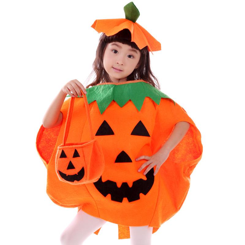 万圣节服装 儿童南瓜表演服 亲子南瓜服南瓜帽 成人化妆舞会服装