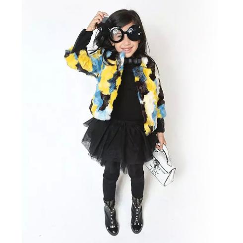 成长衣派童装-黑色纱裙