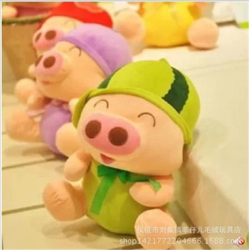 创意水果麦兜猪毛绒玩具公仔
