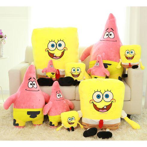 毛绒玩具 海绵宝宝和派大星之海绵宝宝 玩偶公仔 儿童节礼物