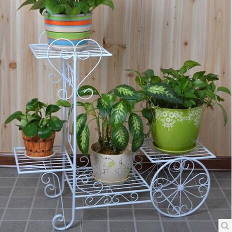 欧式铁艺多层花架子 落地式室内客厅花盆架 绿萝吊兰植物架花盘架