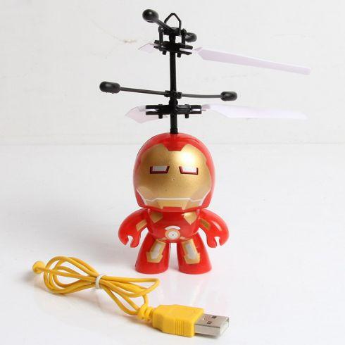 新款钢铁侠遥控感应飞行器 会飞的钢铁侠 机器人 感应飞机玩具