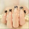 格调女王美甲盘发-法式指甲