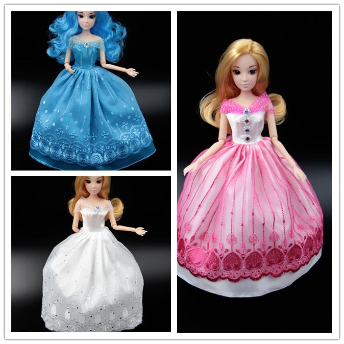 芭比娃娃服装 灰姑娘婚纱礼服大裙子