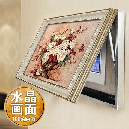 欧式电表箱画配电盒遮挡推拉客厅壁画挂画液压水晶