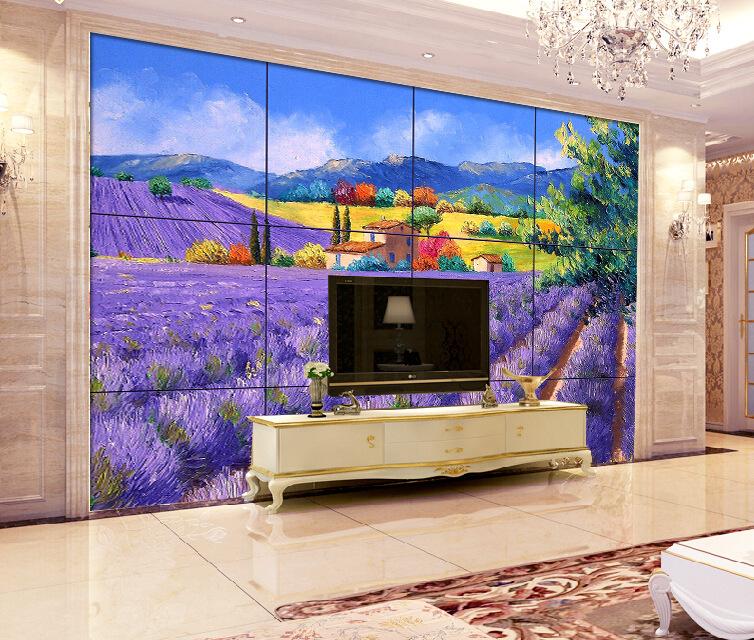 雕平面幻彩壁画陶瓷客厅餐厅欧式油画电视瓷砖背景墙