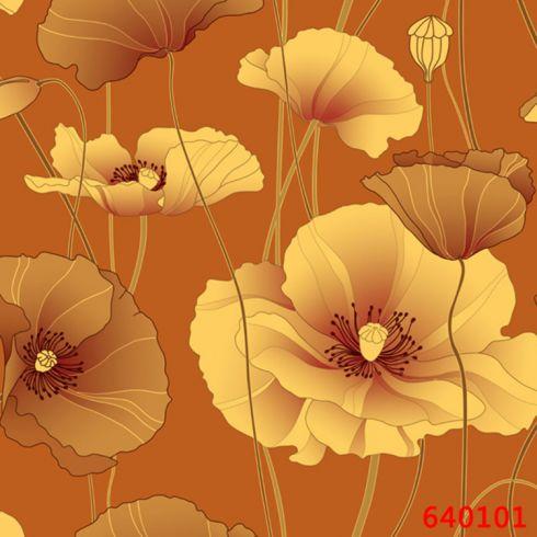 6401荷叶刺绣壁布 环保复合材料壁布
