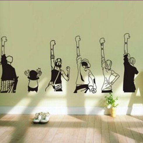 卡通海贼王动漫墙贴 儿童房卧室床头客厅橱柜背景