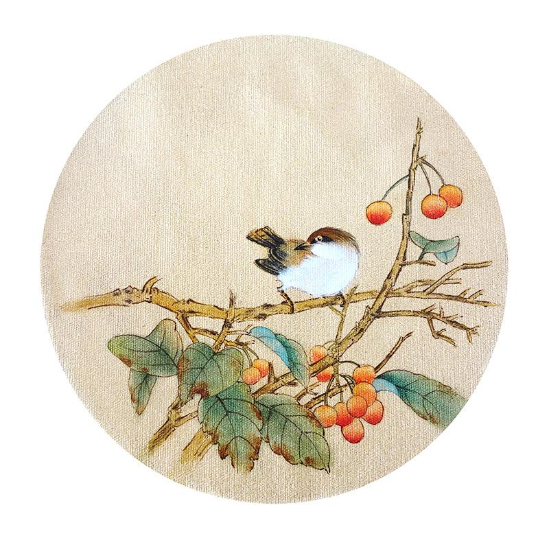厂家批发 工笔小品 传统国画工笔花鸟绘画 纯手绘国画-尚美手绘画加