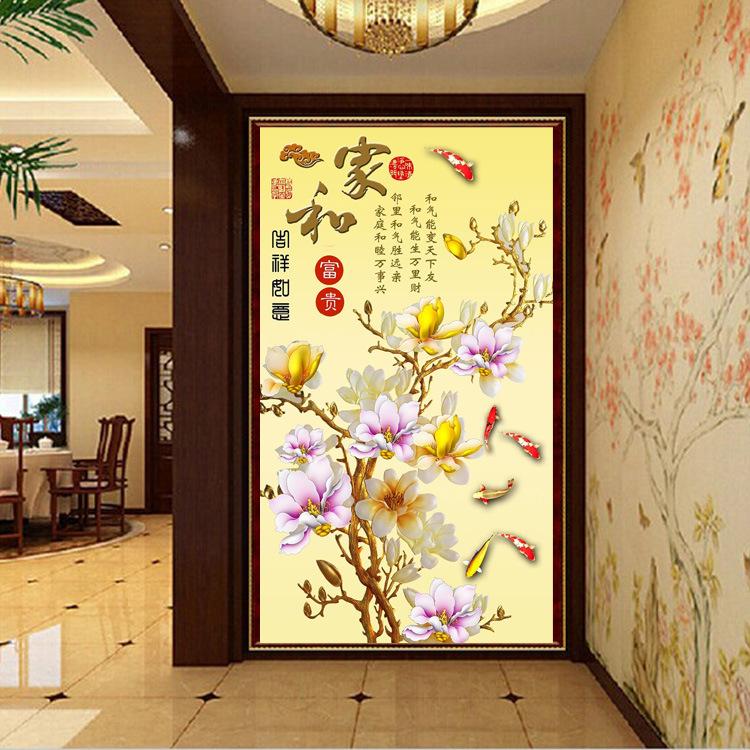 壁画电视背景墙无纺布客厅3d影视墙壁纸4d墙布家和兰