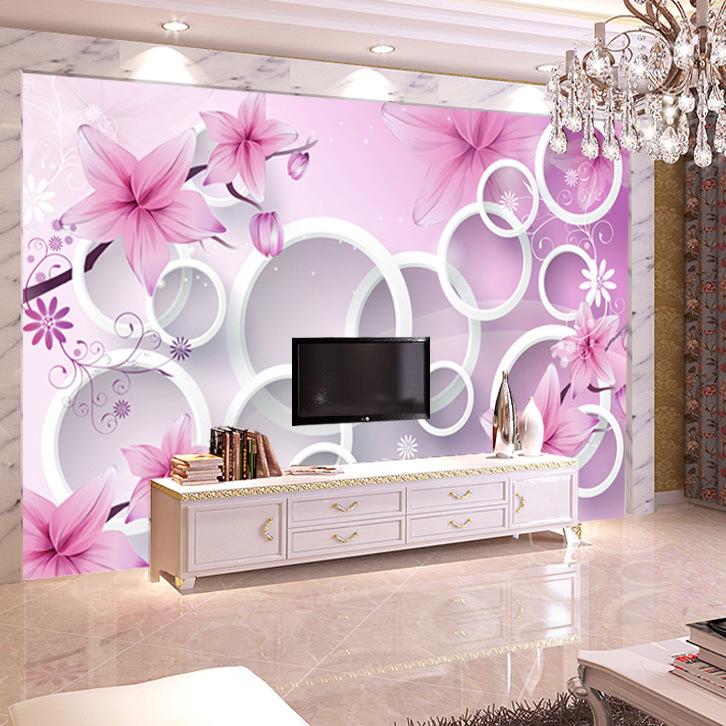 无缝大型墙纸壁画电视背景墙壁纸无纺布客厅3d影视墙4d墙布工厂