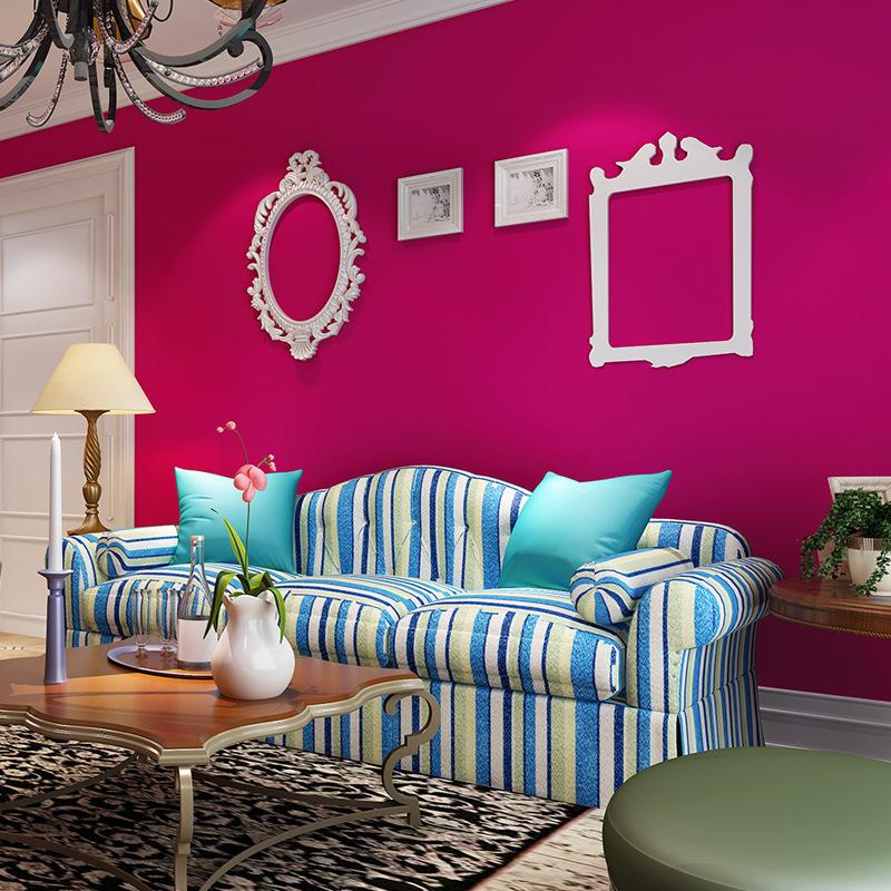 浪漫婚房背景墙壁纸温馨卧室客厅满铺