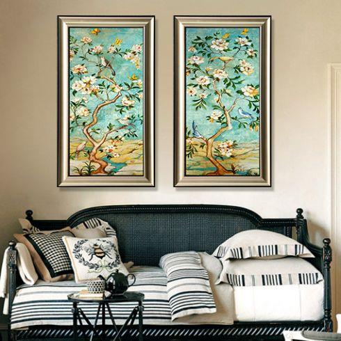 美式风格进口原版装饰画客厅卧室餐厅书房玄关挂画 喜图片