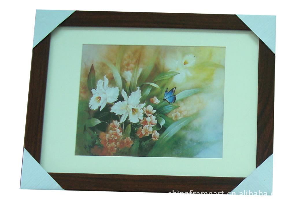 (低价混批)棕色边框风景花卉类卡纸画
