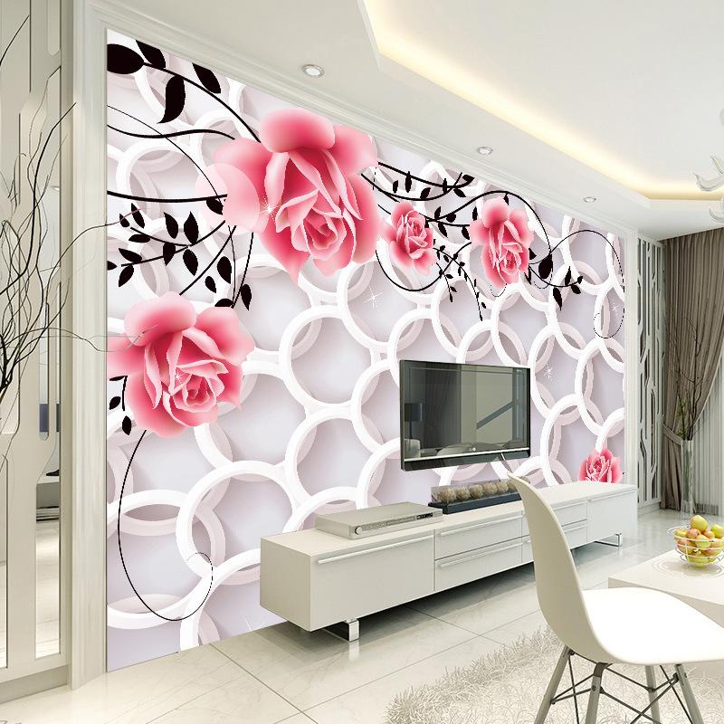壁纸3d欧式无纺布墙纸客厅卧室电视背景墙大型壁画