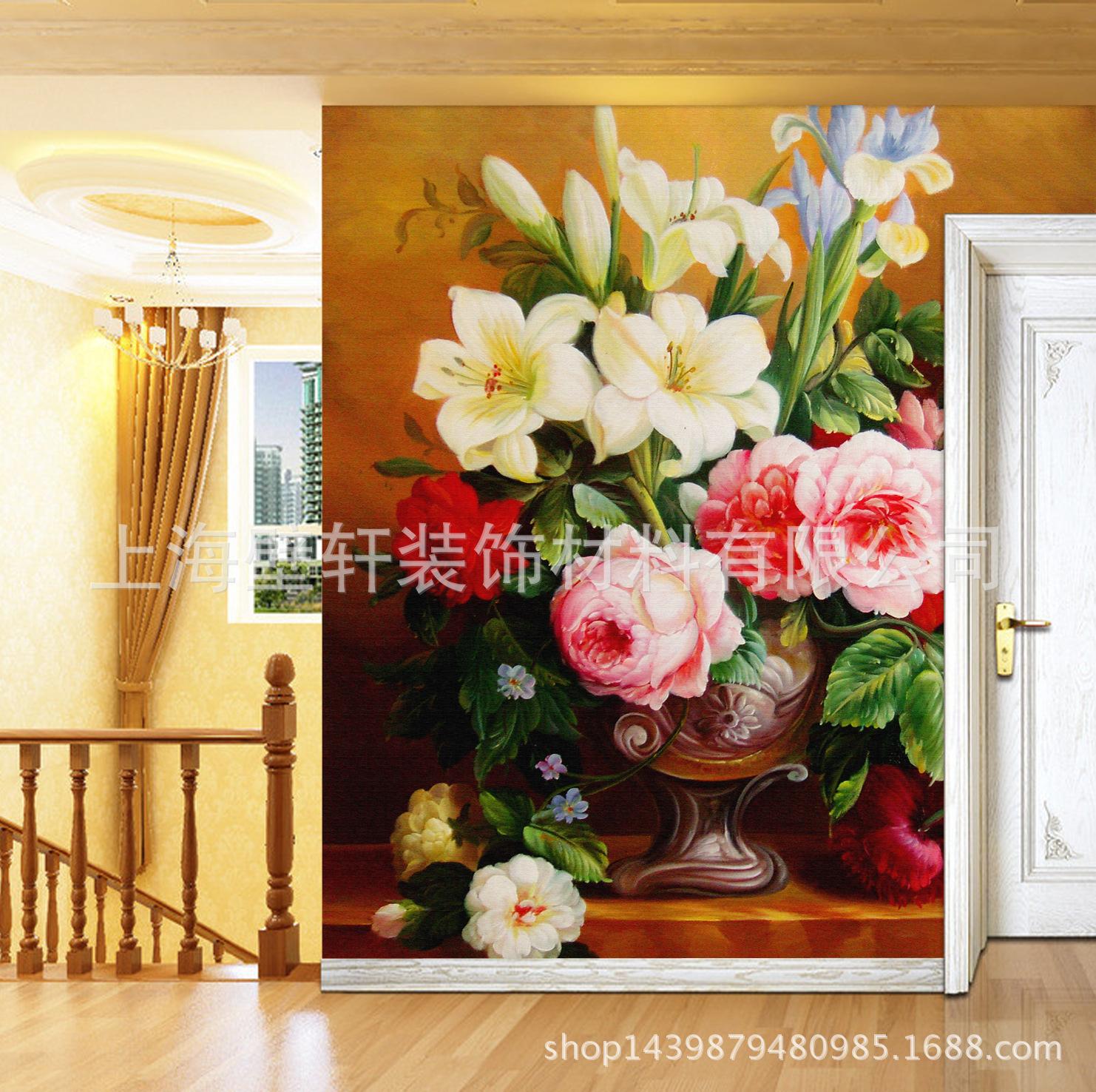 欧式典雅 文艺风格装饰壁画