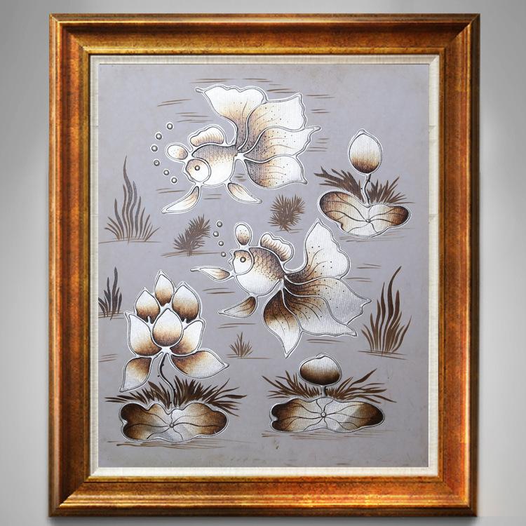 颠覆油画工艺画手工绘画手绘油画装饰画油画 50*60 高雅客厅玄关