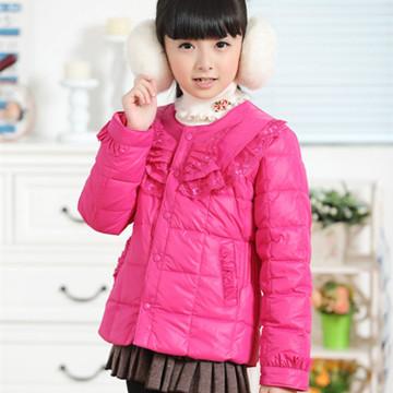 中大童童装花边外套羽绒服镜头蕾丝公主光学正各种滤光片、胶合光学、女童镀膜及其羽绒图片