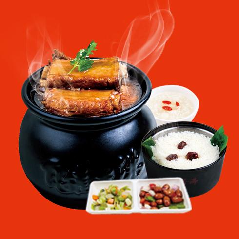 瓦罐香沸小吃快餐-酱香排骨套餐