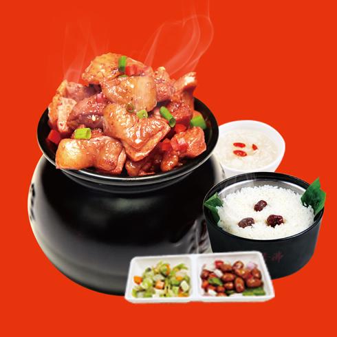 瓦罐香沸小吃快餐-浓香鸡块套餐
