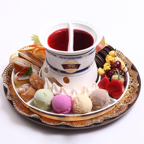 可爱雪冰淇淋火锅