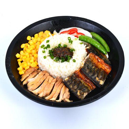 板烧厨房快餐-鲅鱼鸡排双拼