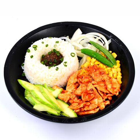 板烧厨房快餐-韩式鸡肉板烧饭