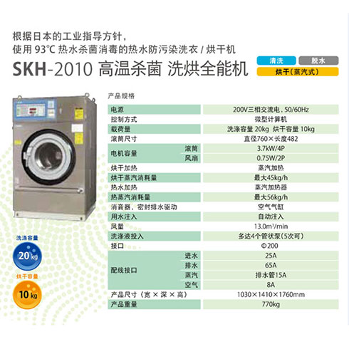 夫人乐洗衣设备介绍