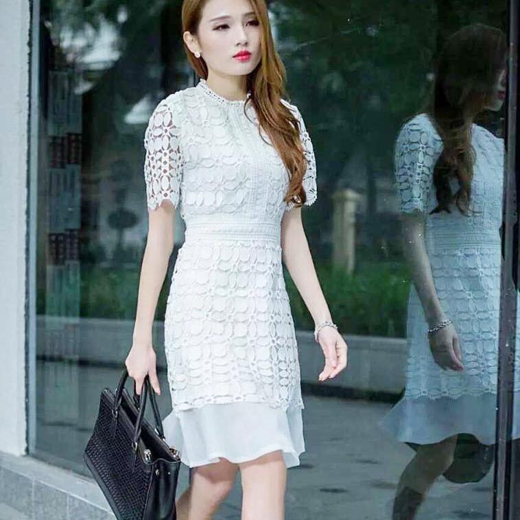 艾丽哲女装-优雅简单职业连衣裙