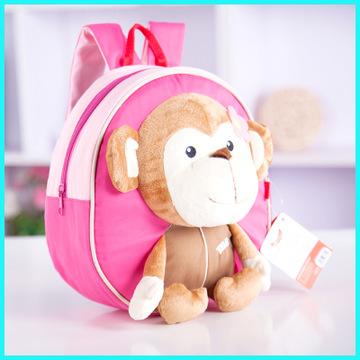 tbb韩版可爱儿童动物卡通幼儿园男女宝宝小背包防走失背包 女猴