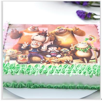 吉咪布丁儿童餐厅产品 吉咪布丁数码打印蛋糕