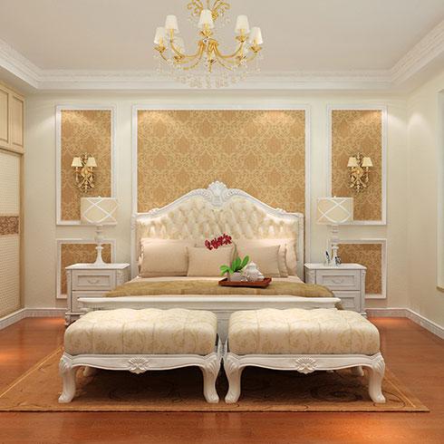 爱丽达贝壳粉生态涂料-卧室墙面