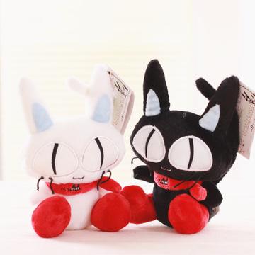 韩国大眼猫可爱黑猫白猫毛绒公仔毛绒玩具玩偶myoo秘密花园同款