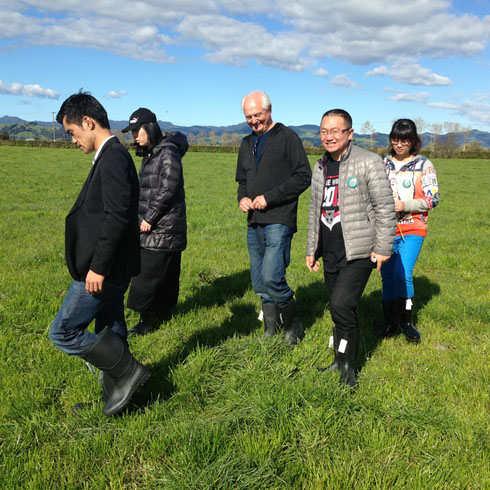 斐婴宝团队考察牧场