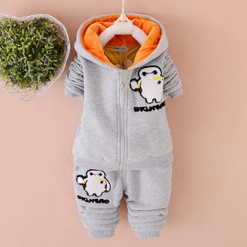 2015冬款童装一件待发厂家直销儿童服装卫衣中小童套装冬装爆款