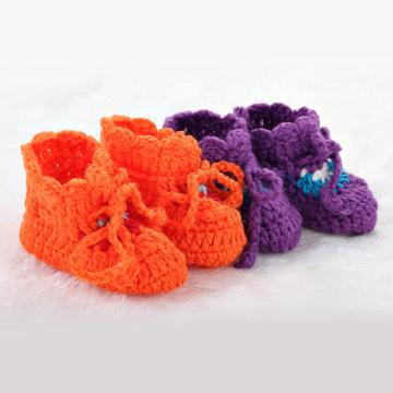 时尚新款手工针织宝宝鞋