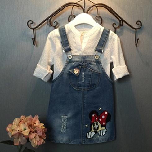 凯缇猫童装-背带牛仔裙