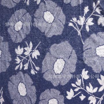 厂家供应日式图案提花毛巾布 扎染藏青色  针织