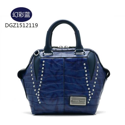 蒂高幻彩蓝手提包