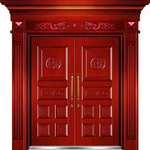 利顿无钥匙智能门-仿铜门