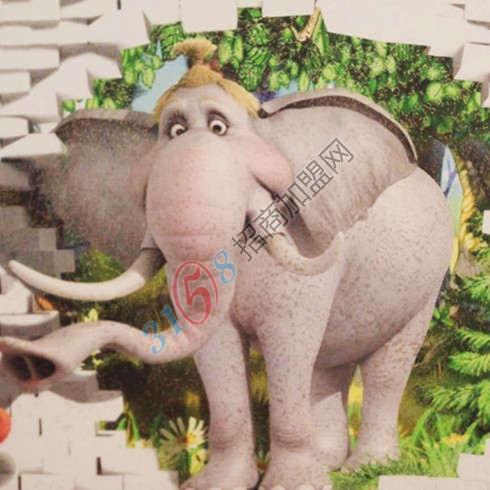 3D大象墙艺