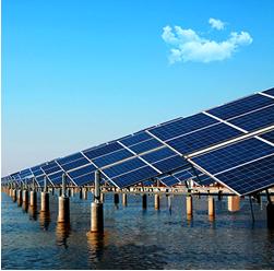亿清佳华太阳能-水面发电效果图