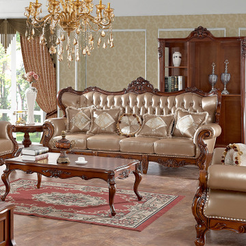 巨森欧式皮沙发