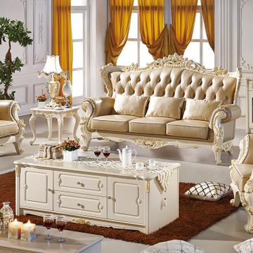 佛山客厅家具直销 欧式真皮沙发